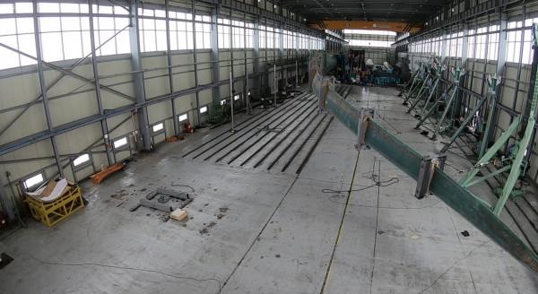 재료(연), 한독소재센터 기술협력으로 (주)두산중공업 개발 풍력블레이드를 시험하는 모습