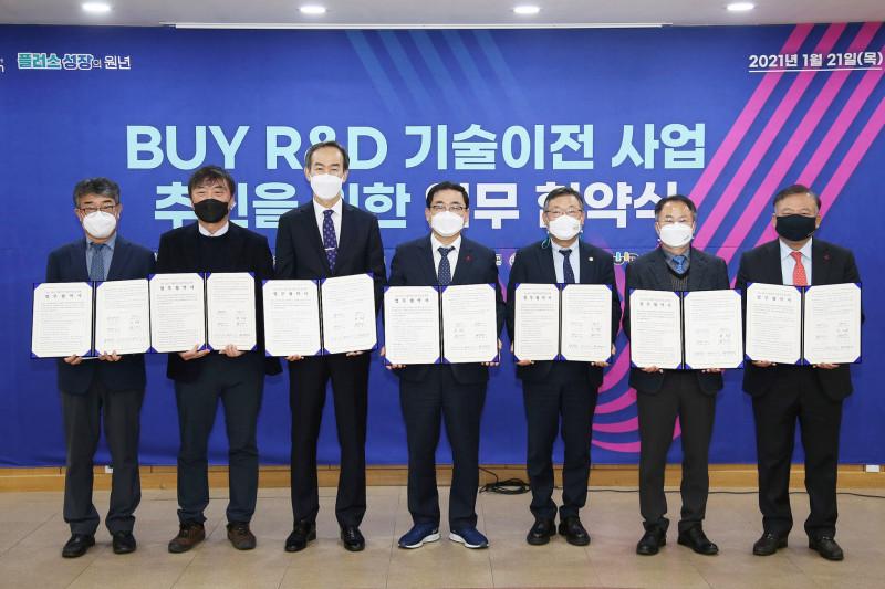 [한국재료연구원] BUY R&D 기술이전 사업 업무협약식 2021-01-21